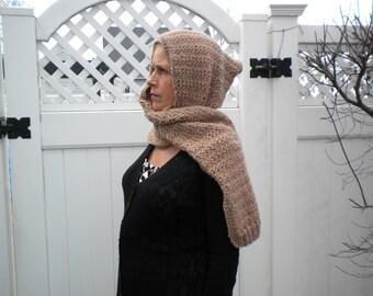 Knit HOODED SCARF PATTERN- Moana