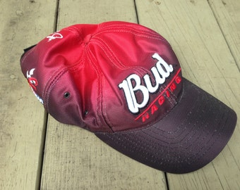 bud beer racing snapback hat cap