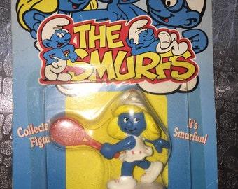 Re-Released 1981 Tennis Smurfette Smurf