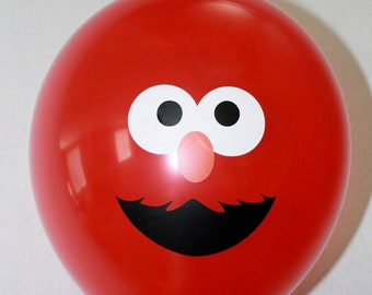 Elmo or Cookie Monster Face Sticker Parts for balloon