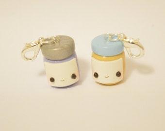 Polymer Clay Friendship Charm: Peanut Butter and Jam - Kawaii Polymer Clay Charms
