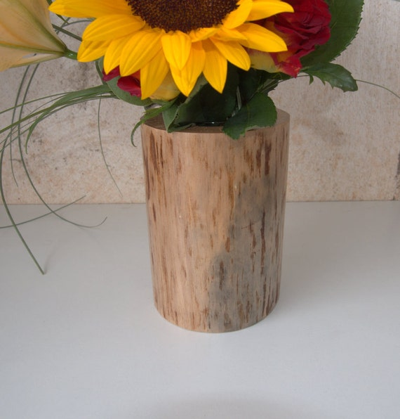 Items similar to wedding centerpiece wood stump vase