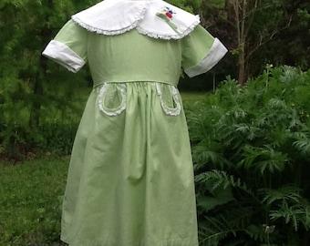 Vintage 1960's Cotton Party Dress 4T