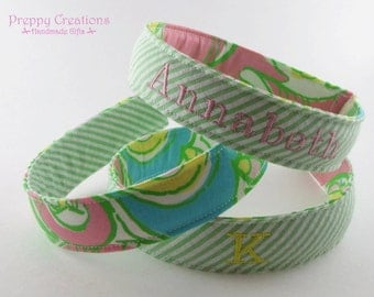 Personalized Headband, Fabric Headband, Women Headband, Teen Headband, Girls Headband, Graduation Gift, Lilly Pulitzer Fabric