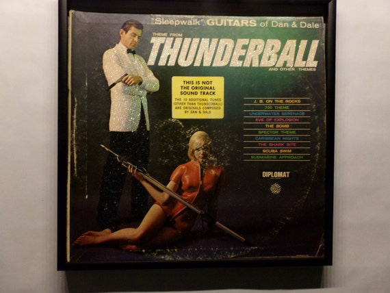 Glittered Record Album - James Bond 007 - Thunderball