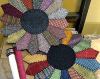 Dresden Plate Wool Mat - ePATTERN DOWNLOAD