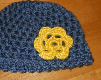 Crochet Chunky Flower Hat