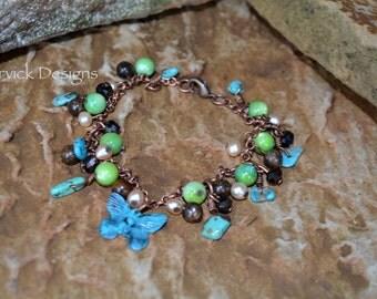 Copper Butterfly Bracelet