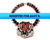 RESERVED FOR ALGY Teach Me Tiger soutache and stone necklace (free international shipping)