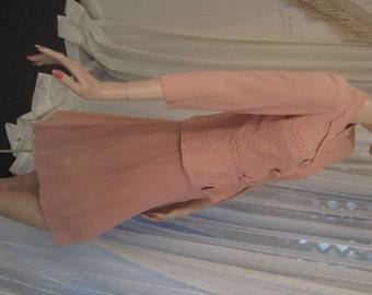 Vintage Dusky Rose Crepe  Suit, Four Star Fashions, ca 1940s