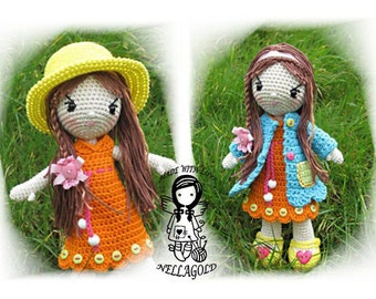 Crochet PATTERN, Crochet doll, Amigurumi, Toy, Collectors doll Madlenka, DIY Pattern 121