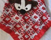 Badger cuddle blanket