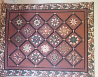 Handcrafted Twin Size Quilt - Horsin' Around - QT-001