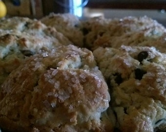 Coconut Chocolate Chip Cream Scones