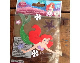 Jolees EK Disney Jolee's Sticker 3D Ariel Starfish - Craft stickers - Scrapbook stickers