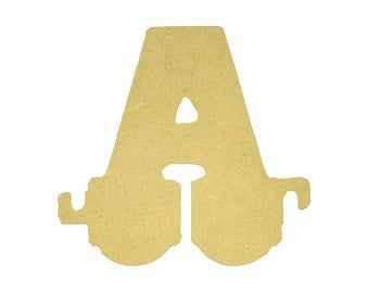 Unfinished Wooden Alphabet Letter, Wood Letter, Train Letter