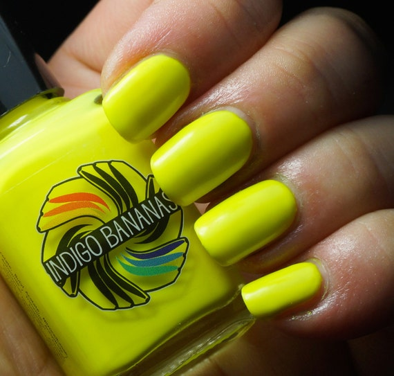 The Uranium Evil - yellow neon creme - nail polish by Indigo Bananas