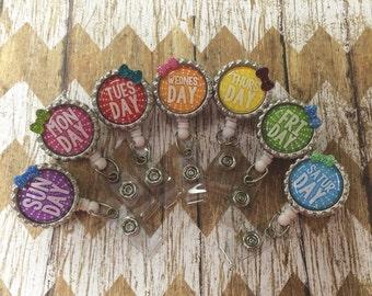 Days of the week badge reels
