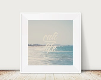 california photograph beach photograph santa monica photograph california art cali life print typography print beach decor