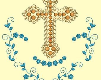 baptismal Machine Embroidery design