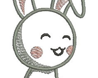 rabbit applique   - Machine Embroidery Design