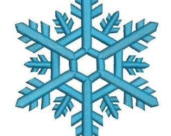 elegant snowflake , three sizes  - Machine Embroidery Design