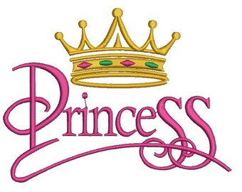 Princess Crown Design Embroidery File 6*6, 5*5, 4*4,Instant Download