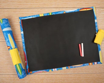 Travel Chalkboard Mat - Surfboards