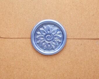 Mehndi Flower Wax Seal, Custom Peel & Stick Indian Wedding Invitation Birthday Party Mehndi Sticker Decal for Scrapbook Album Journal Decal