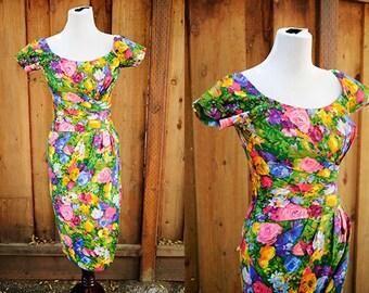Jardin 50's Ceil Chapman Wiggle Dress Sz.XS