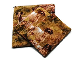 Reusable Sandwich Snack Bags set of 3 Zipper Hunting Dogs