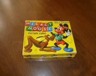 Vintage Mickey Mouse Case with Puzzle Pieces