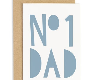 Number 1 Dad Father's Day Card - Card for Dad - CC48