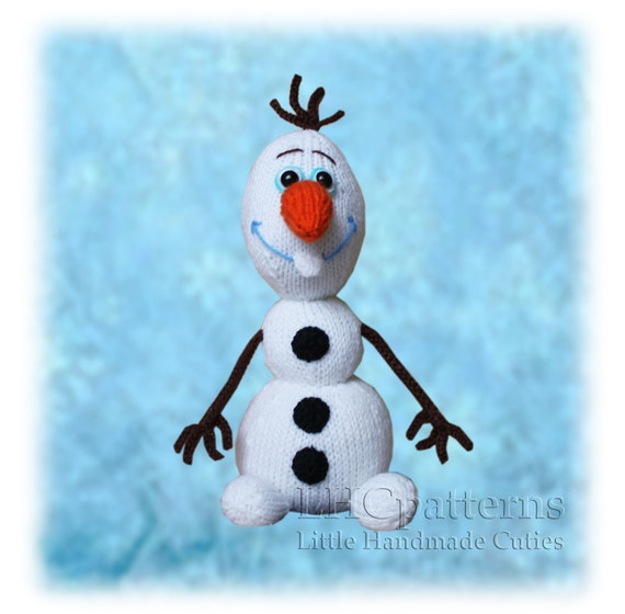 Olaf Snowman Knitted Toy PATTERN from LHCpatterns on Etsy ...