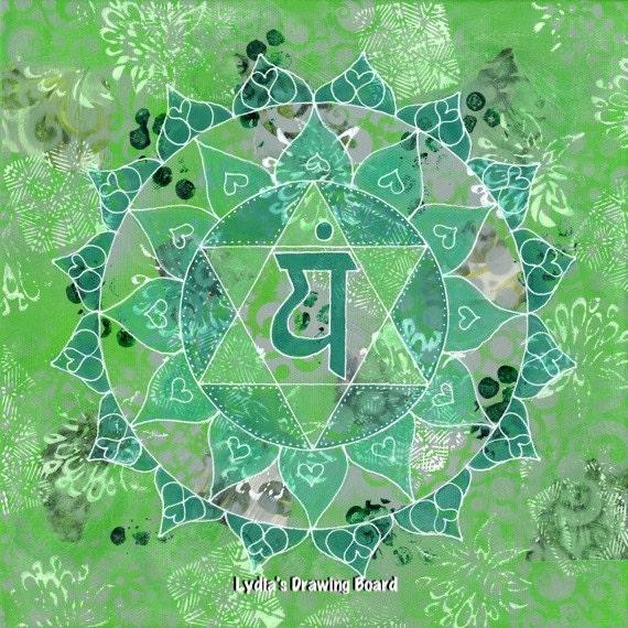 Mandala Wall Art, Mandala, Yoga Art, Yoga Studio Decor, Kundalini, Chakra Art, Mandala Art, Spiritual Art, Meditation, Heart Chakra, Anahata