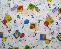 Popular Items For Sesame Street Fabric On Etsy