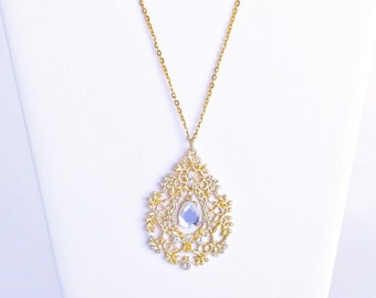 Gold and Crystal Fairytale Necklace