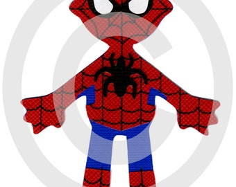 Spiderman Super Hero Scrapbook Die Cut Doll Superhero Project Life
