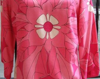 Vintage Vera Neumann Pink Floral Shirt