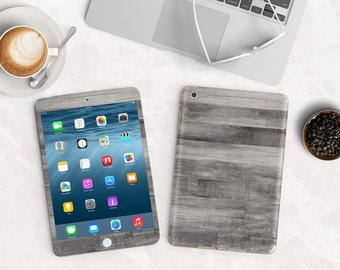 Gray Untreated Wood Vinyl Skin for the iPad Air 2, iPad mini , Kindle All Models , Surface Pro and RT
