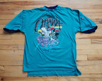 Vintage 90's Ottawa Rough Riders XL T Shirt CFL VTG