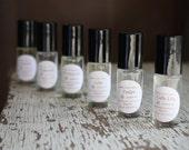 Perfume Oils, Handmade Perfume, Natural Perfume, Gift Perfume Set, Choose Six, Stocking Stuffer