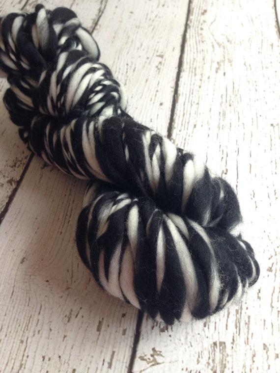 Handspun Bulky Thick and Thin Merino Wool by HookaholicHandspun