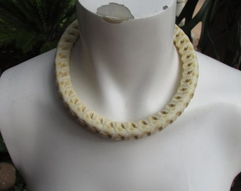 Snake Spine Bone Collar Choker Necklace Adjustable Size