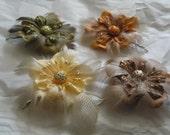 Glittery Flower Hair Pin