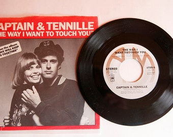 Vinyl 45! Captain and Tennille, The Way I Want To Touch You, 1975!