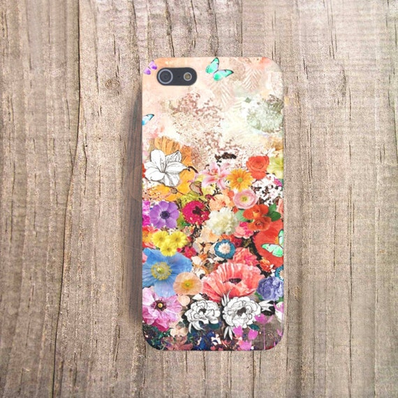 Floral iPhone Case, Floral Cases iPhone 5 Case, Floral iPhone 6 Case, Vintage iPhone Case, Eco Friendly Tech Accessories, Mothers Day Gifts