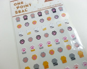 Cat Foot Print Paper Sticker  - 1 Sheet