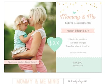 Mothers Day Mini Session Mommy and Me Marketing Template INSTANT DOWNLOAD