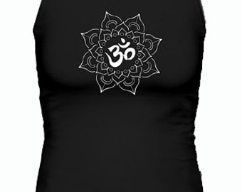 Om Flower Tank Top ~ Yoga Wear ~ Women's Tank Top ~ Yoga Clothing